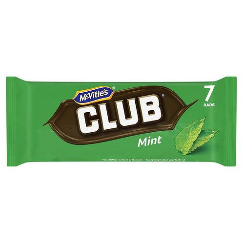 McVitie's Club Mint Chocolate Biscuit Bars 7 x 22g #73537