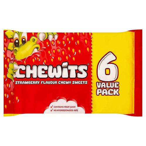 Chewits 6pk Strawberry 6x30g  #54131