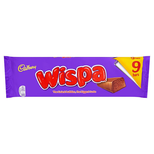 Cadbury 9pk Wispa Chokolate Bar 229.5g  #64495