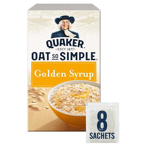 Quaker Oat So Simple Golden Syrup Porridge 8x36g  #66664