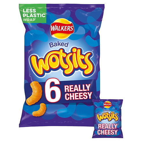 Walkers Wotsits Really Cheesy Multipack Snacks 6x16.5g #39386
