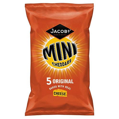 Jacob's Mini Cheddars Original 5 Pack 125g #73539