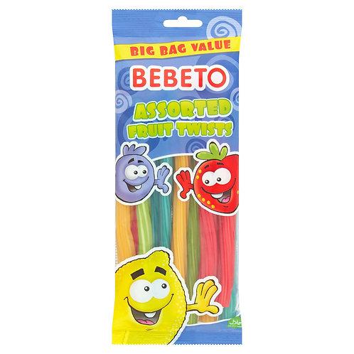 Bebeto Assorted Fruit Twists 250g  #79248