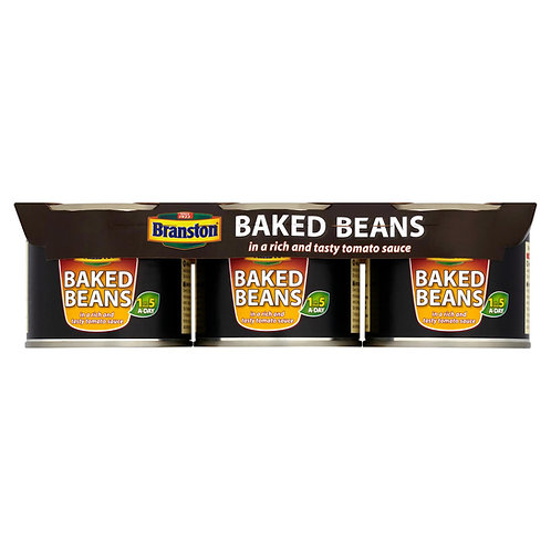 Branston Baked Beans in a Rich and Tasty Tomato Sauce 3 x 220g #43445