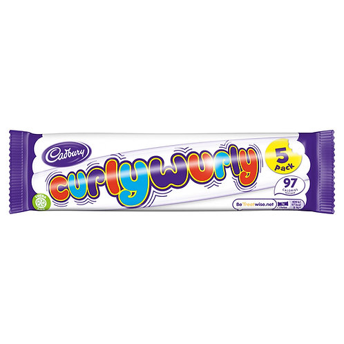 Cadbury Curly Wurly Chocolate Bar 5 Pack 107.5g #57206