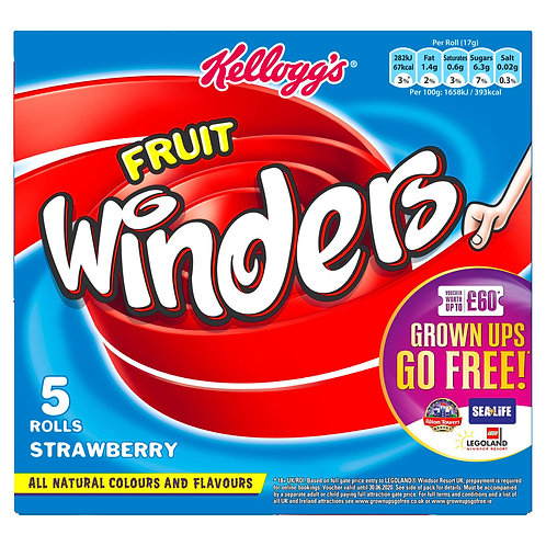 Kellogg's 5pk Strawberry Fruit Winder  #76584