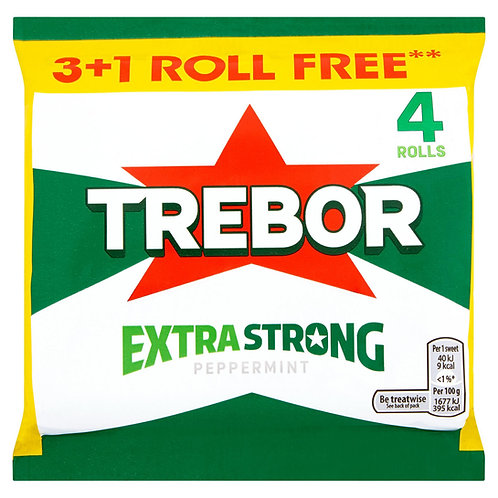Trebor Extra Strong Peppermint 3+1 Free Rolls 165.2g #66588