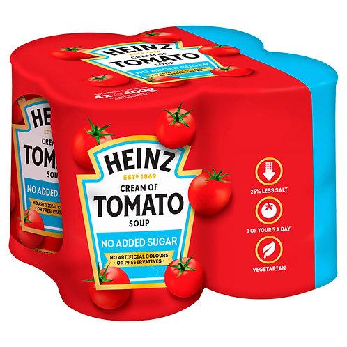 Heinz No Added Sugar Cream of Tomato Soup 4 x 400g #75364