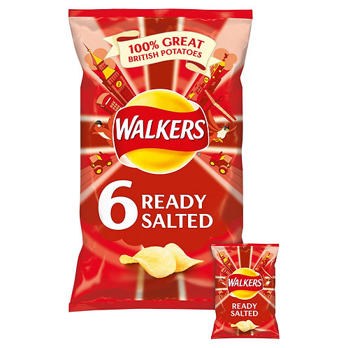 Walkers Ready Salted Crisps 6x25g  #71938