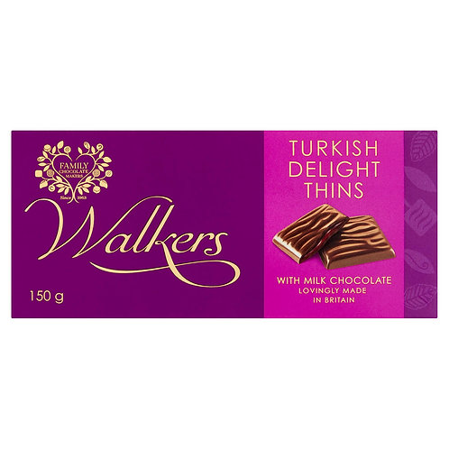 Walkers Turkish Delight Thins with Milk Chocolate 150g #50138