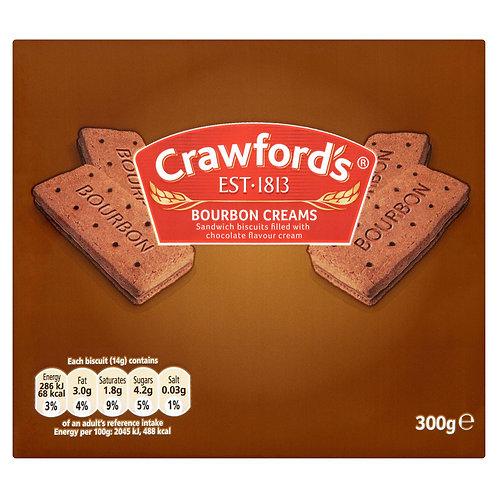 Crawfords 300g Bourbon Creams  #53598