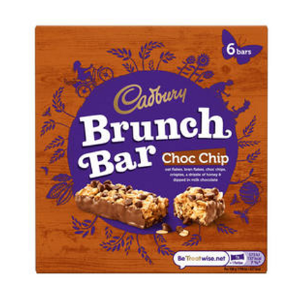 Cadbury 6pk Choc Chip Brunch Bar 6pk 192g  # 66039
