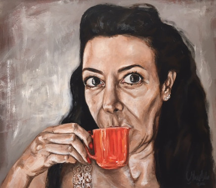 Mother With Cup of Coffee