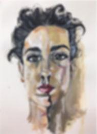 Self Portrait_Acrylic on Paper_60X50CM_2