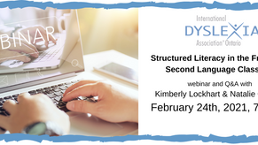 IDA Webinar: Structured Literacy in the French as a Second Language Classroom