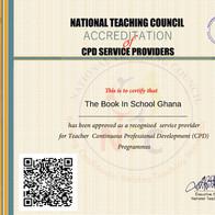 Accreditation Teacher Training TBIS, National Teaching Council Ghana