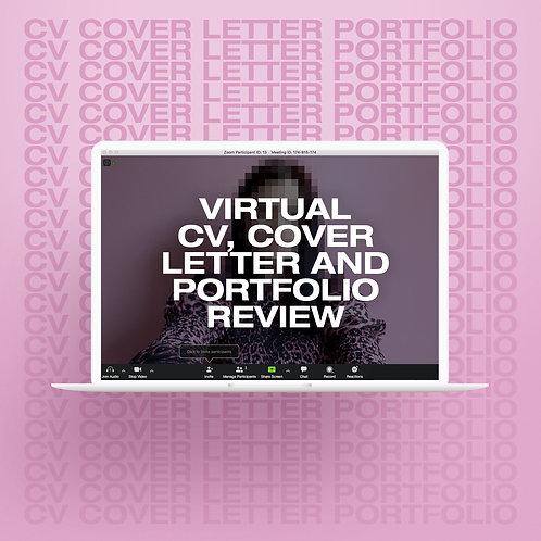 Virtual CV, Cover Letter + Portfolio Review