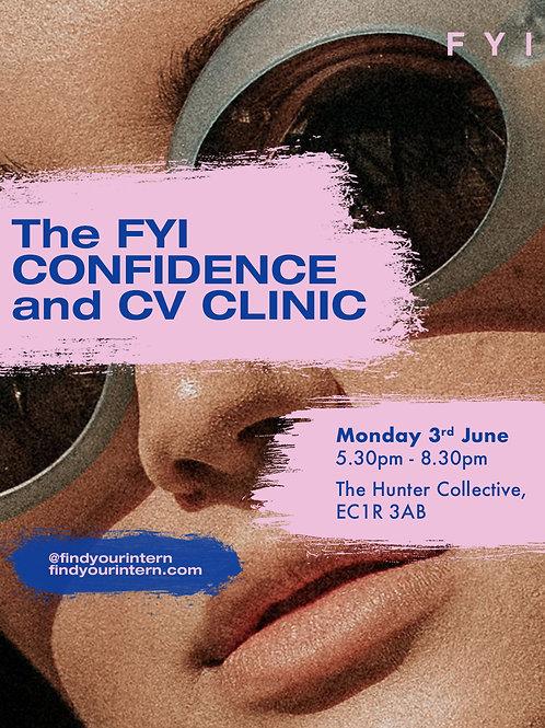 The FYI CONFIDENCE and CV CLINIC
