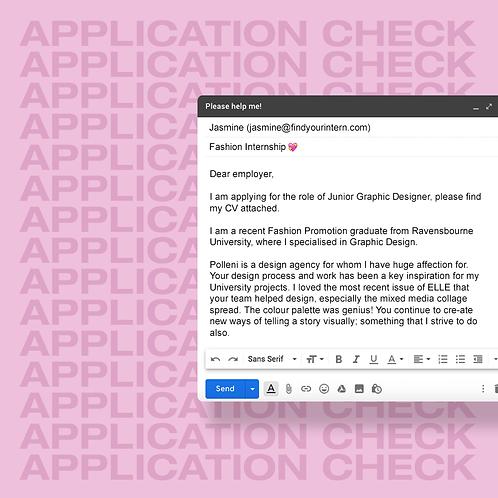 Application Check