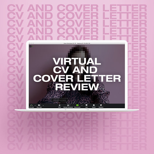 Virtual CV and Cover Letter Review