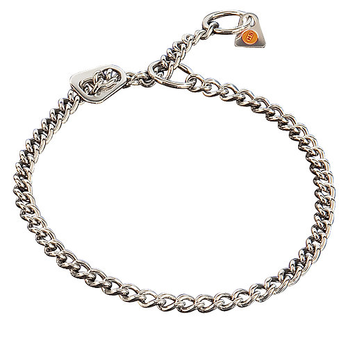 2.5mm Herm Sprenger round link collar with restrictor