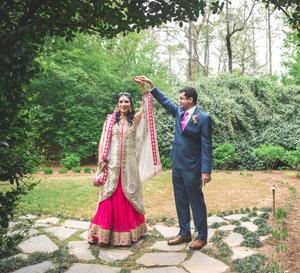 Spinning wedding portrait