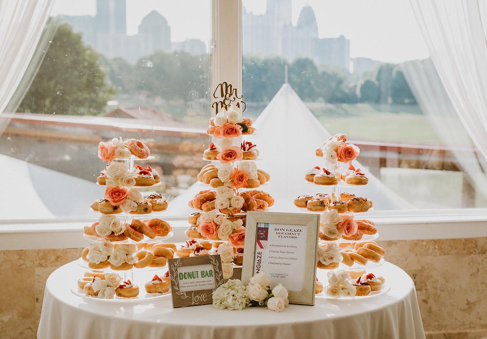 doughnut wedding cake