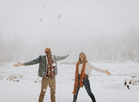 Rachel & Joey's Snowy Colorado Engagement Session