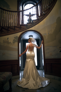 Bride in the doorway