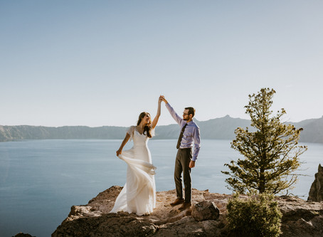 Meg & Will's Crater Lake Elopement