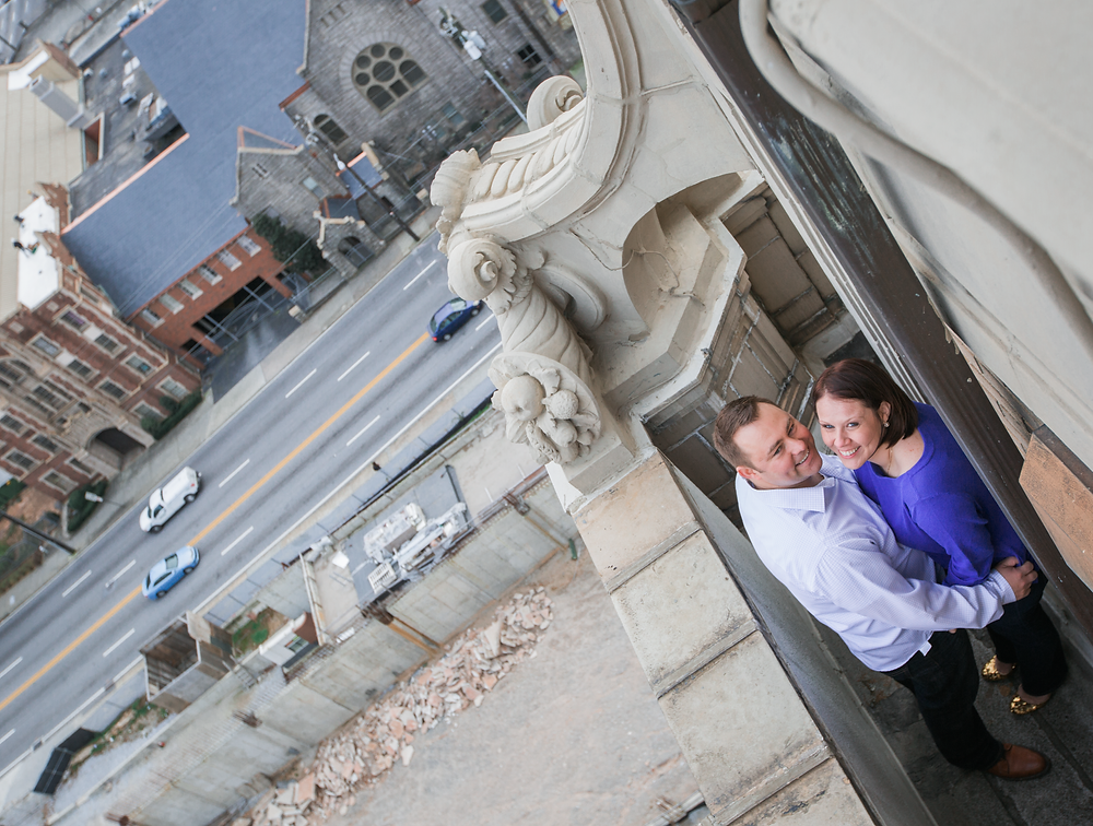Atlanta rooftop engagement session