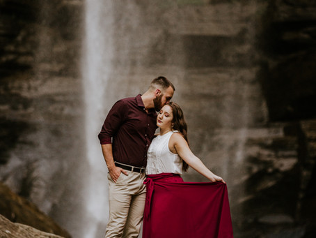 Alaina & Quent's Toccoa Falls Engagement Session