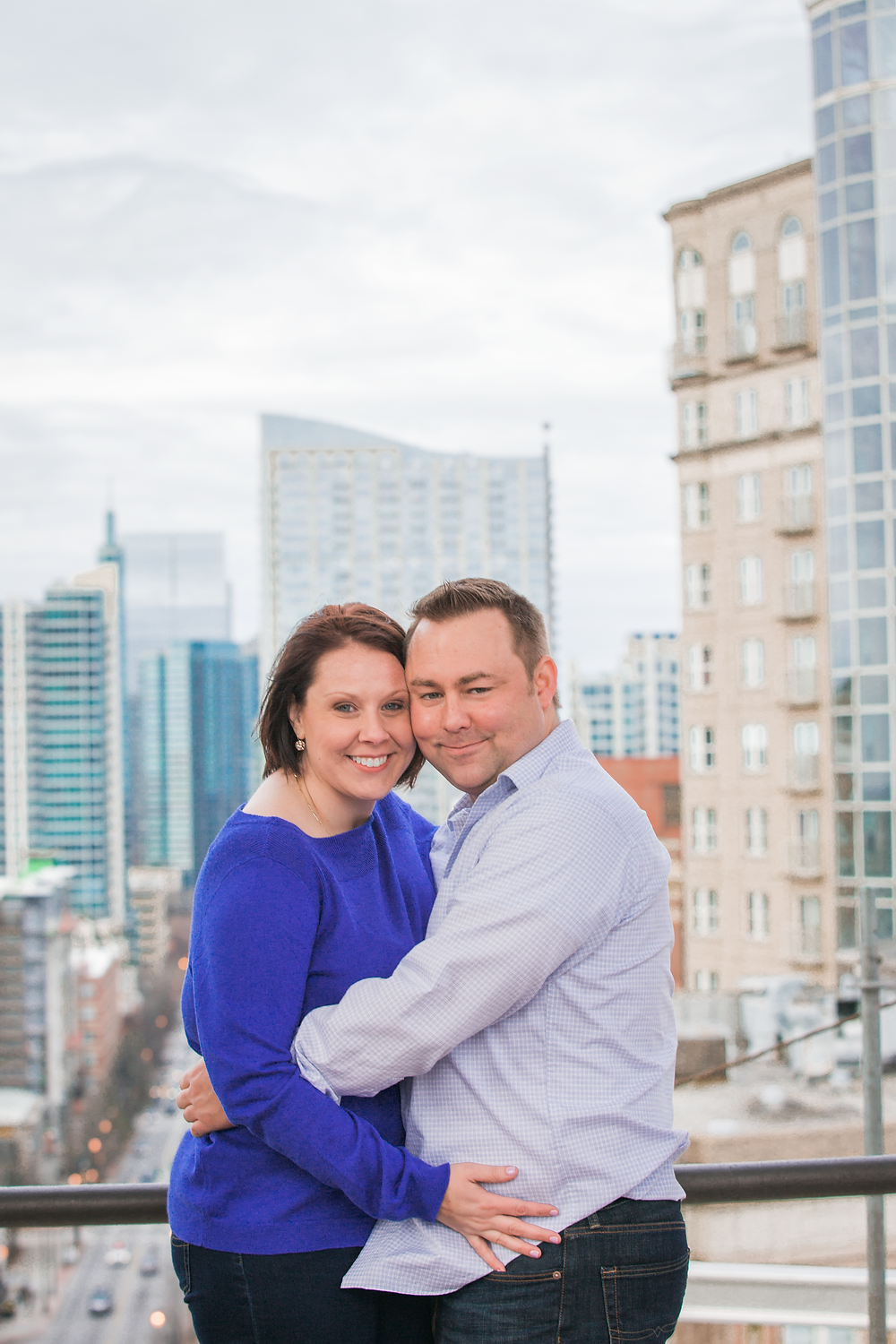 Atlanta engagement session on rooftop
