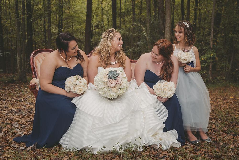 Bridesmaids backyard wedding