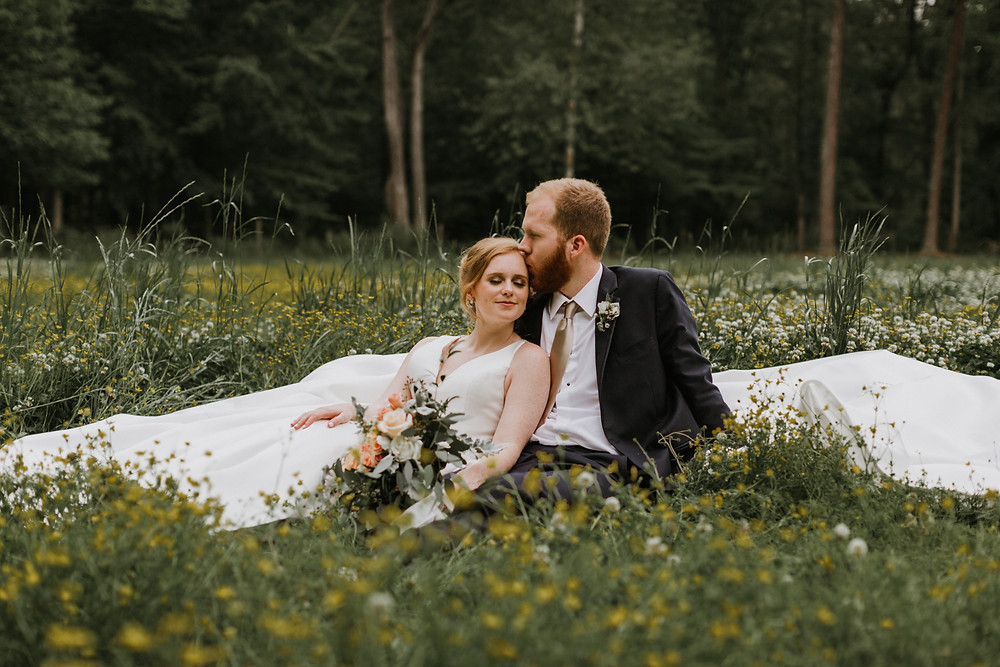 wild flower wedding portraits