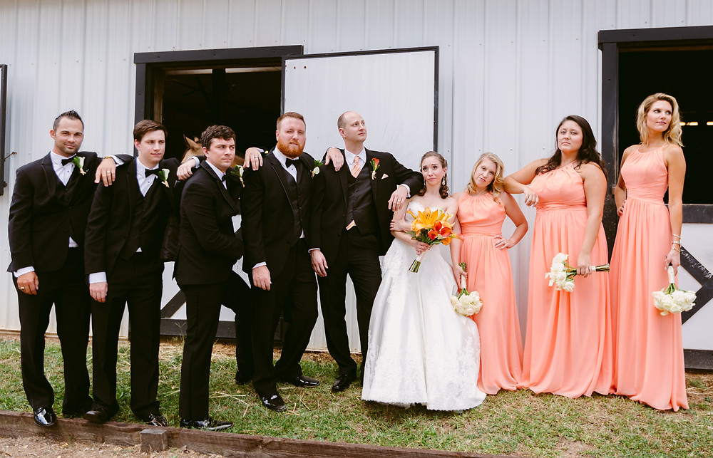 Fun wedding party pictures