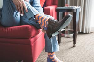 Rock those funky wedding day socks