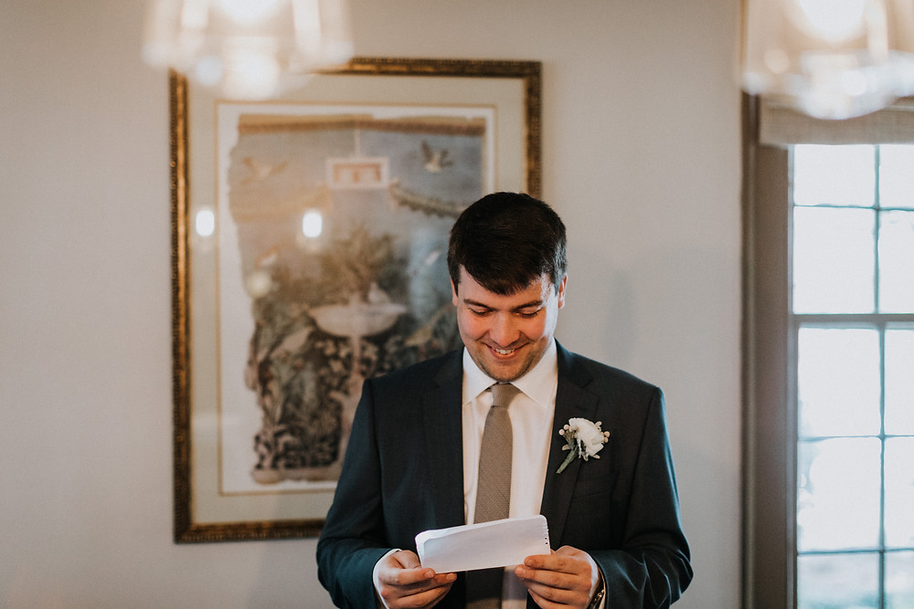 Groom emotional