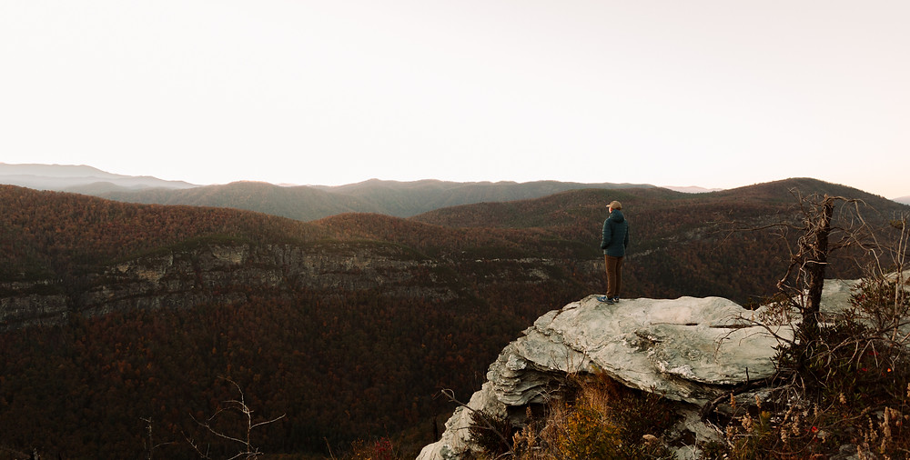 Linville Gorge at sunset