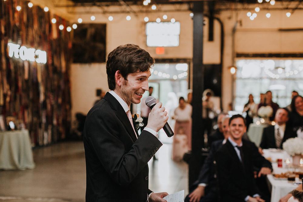 Best Man Gives Speech