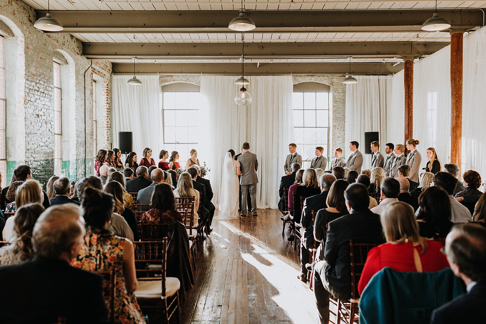 The Engine Room Monroe Wedding Ceremony Pictures