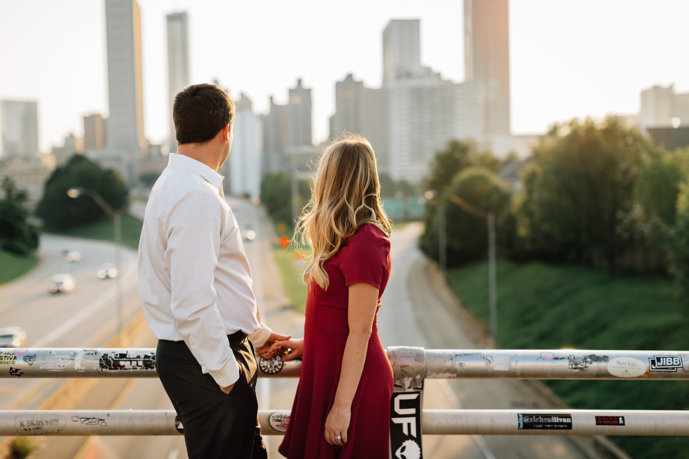 Atlanta Jackson Street Bridge engagement session