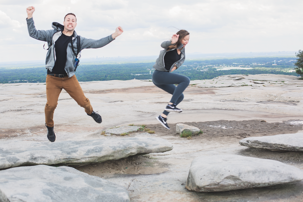 Crazy jumping picture