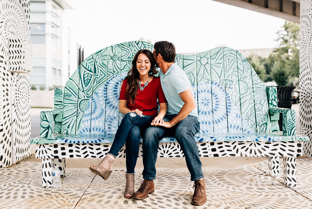 Non-posed engagement pictures