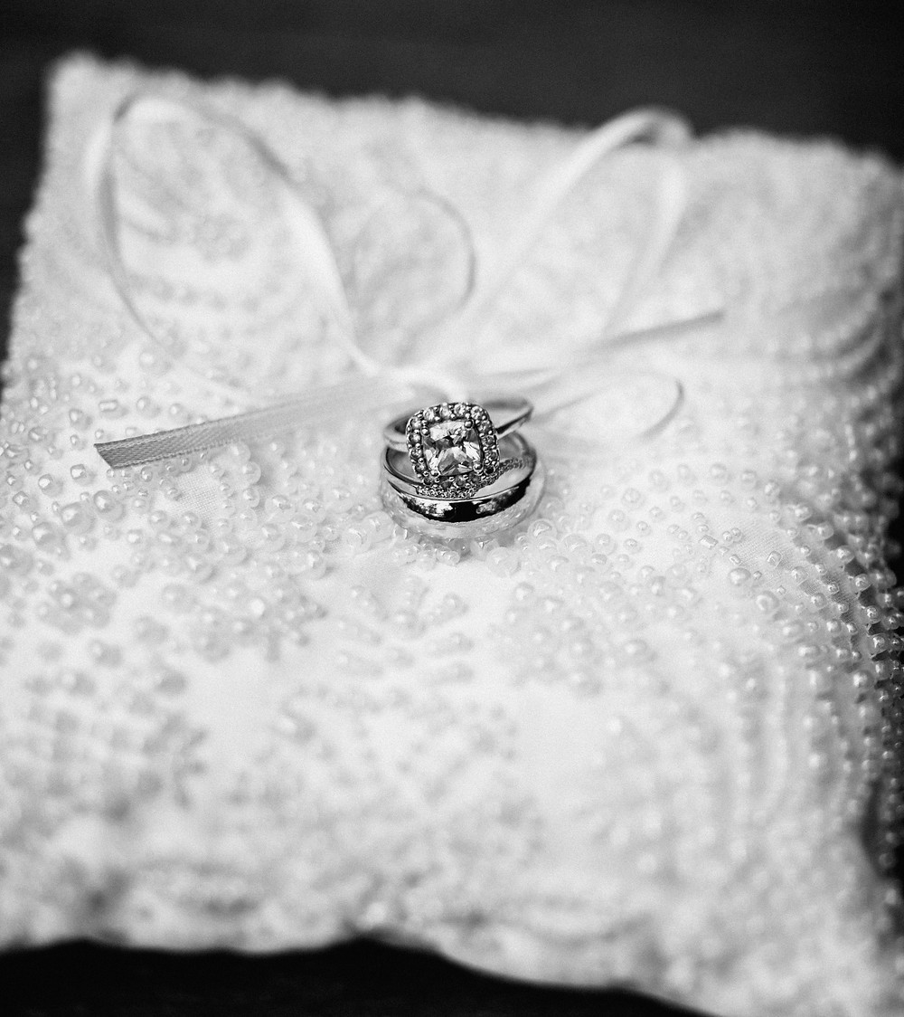 Ring on pillow