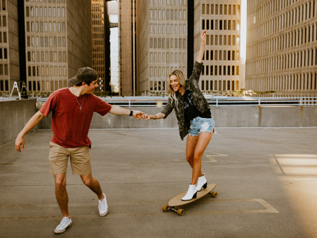 Lex & Hayden's Atlanta Rooftop + The Varsity Engagement Session
