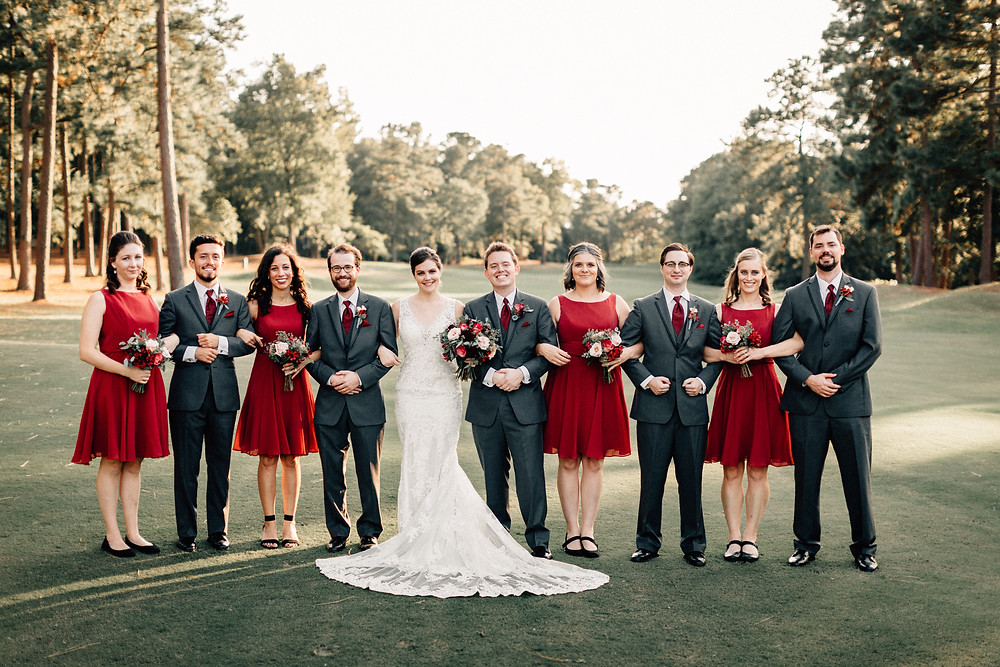 Full wedding party pictures