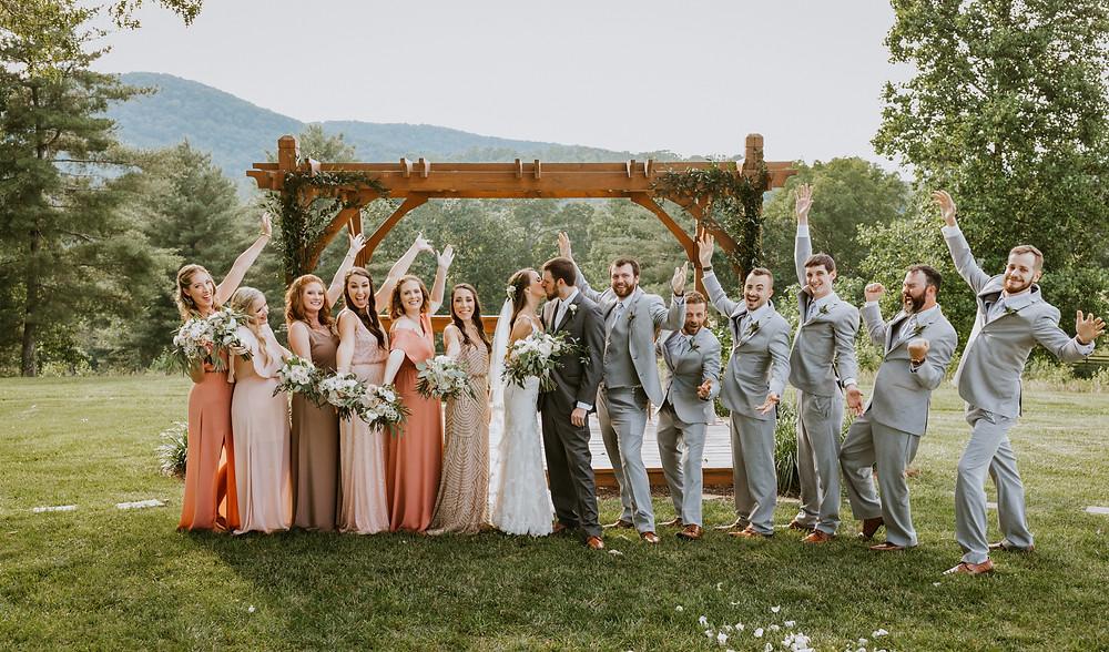 wedding party cheer