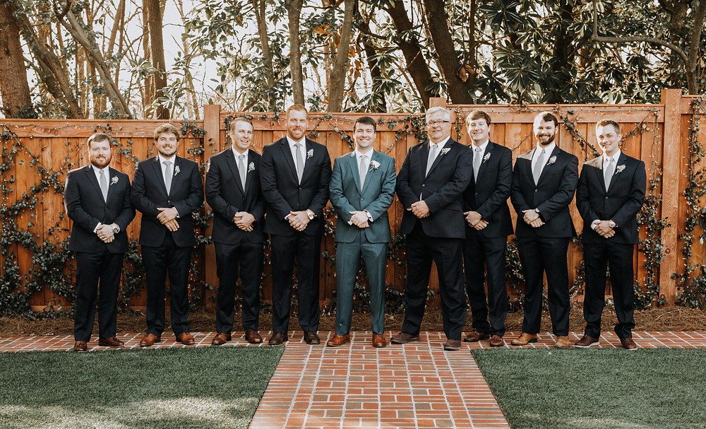 Groomsmen group portraits