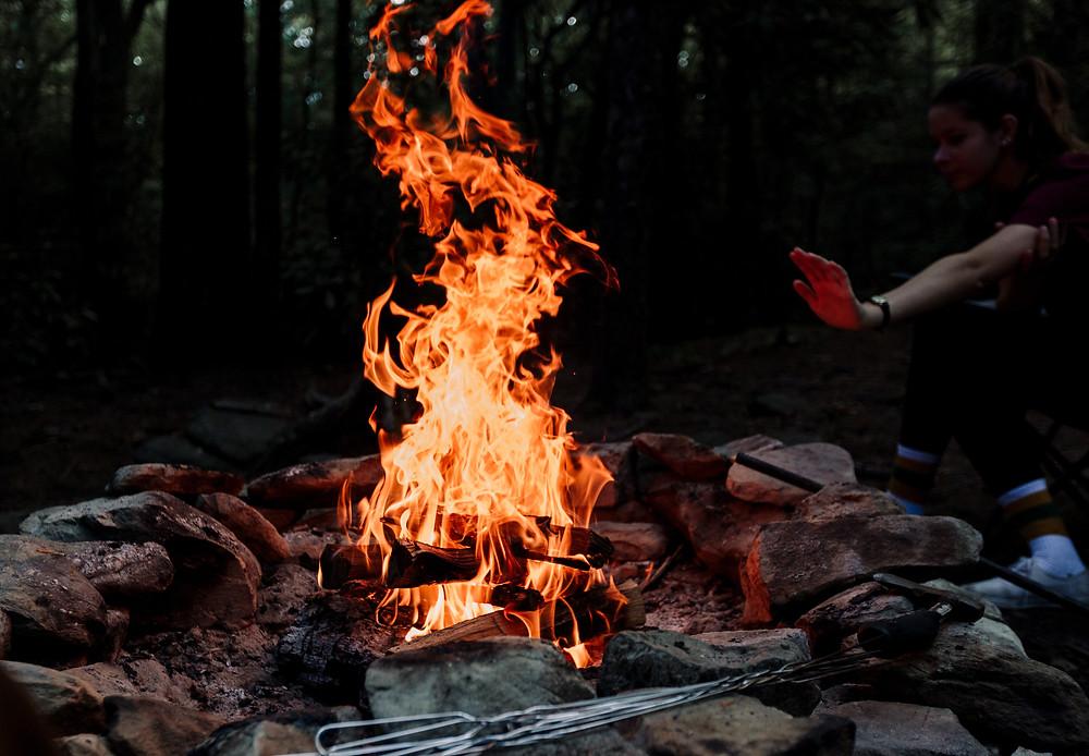 Linville Gorge campfire